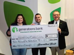 United Way Check from Generations Bank